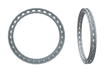 Truss circle. Isolated on white background. Vector illustration.