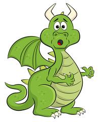 Photo sur Plexiglas Dinosaurs astonished cartoon dragon