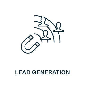 Lead Generation outline icon. Thin line concept element from content icons collection. Creative Lead Generation icon for mobile apps and web usage