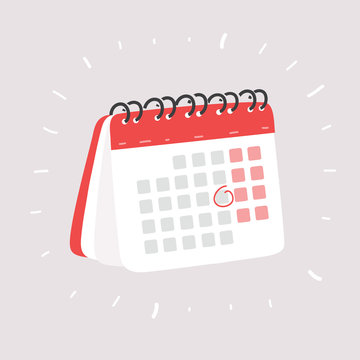 Calendar on white.