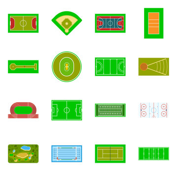 Vector illustration of field and arena symbol. Collection of field and sport vector icon for stock.