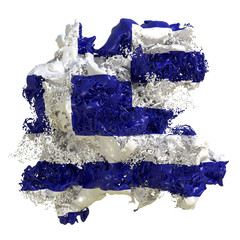 Greece flag liquid