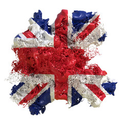 United Kingdom flag liquid