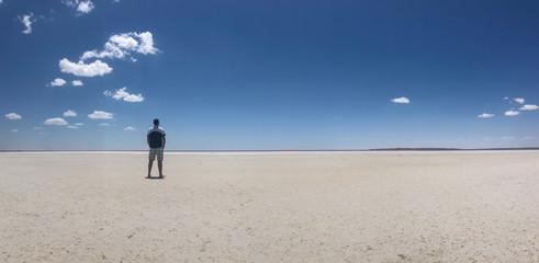 salt lake and exploration landscapes in nature