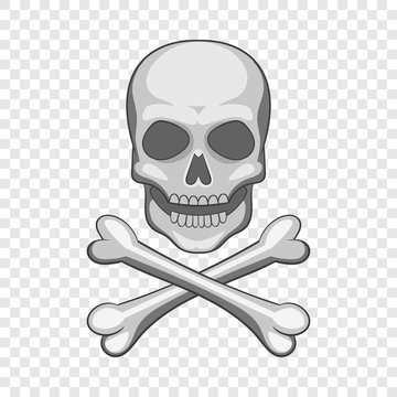 Skull and crossbones icon. Cartoon illustration of skull and crossbones vector icon for web