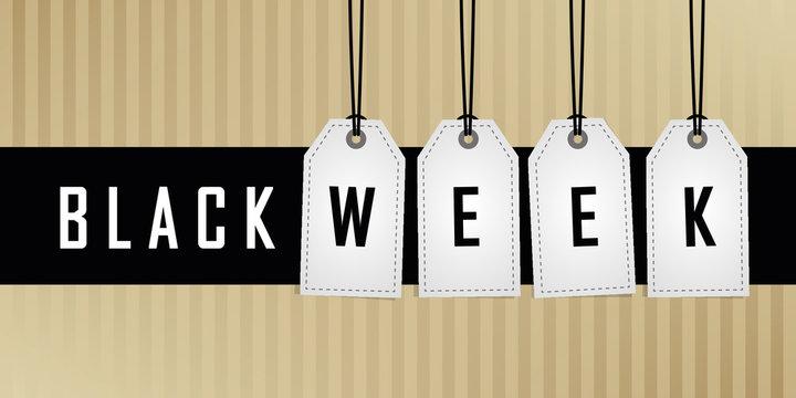 black week promotion hanging label vector illustration EPS10