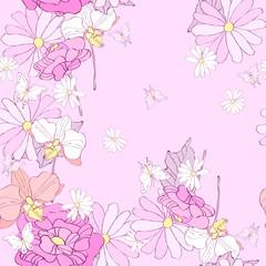Photo sur Plexiglas Fleurs Vintage butterfly133