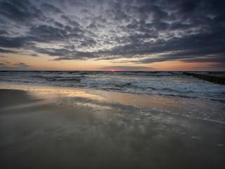 Morze zachód słońca - Dziwnówek Dziwnowo Rybie Oko