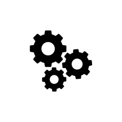 Settings gears icon logo
