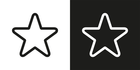 Five-pointed star vector icon