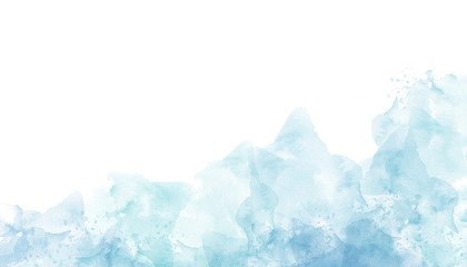 Abstract blue watercolor background in high resolution