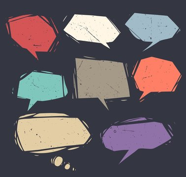 Collection of speech bubbles and dialog balloons