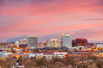 Fototapete - Colorado Springs, Colorado, USA Cityscape