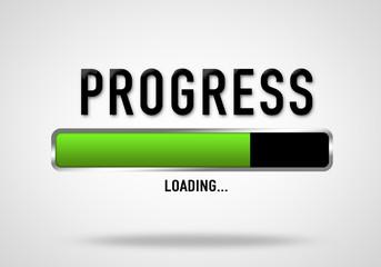Work in Progress - loading bar illustration