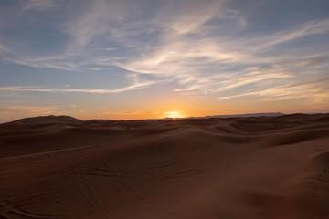 Canvas Prints Magenta Sunset at Sahara Desert Morocco Africa