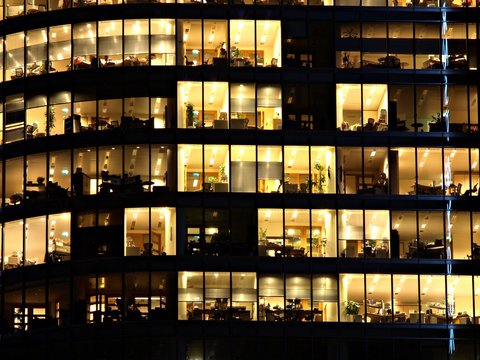 Office building at night