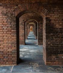 Fototapeta Red Brick Frame in Frame in Frame
