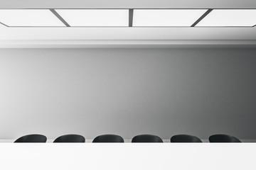 Modern meeting room with copyspace