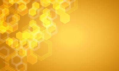 Fotobehang - Yellow medical background