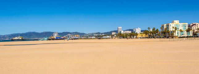Santa Monica Beach on a sunny day in Los Angeles, California, USA Wall mural