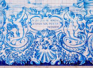 Azulejos at Carmo Church, Porto, Portugal