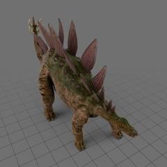 Roaring stegosaur