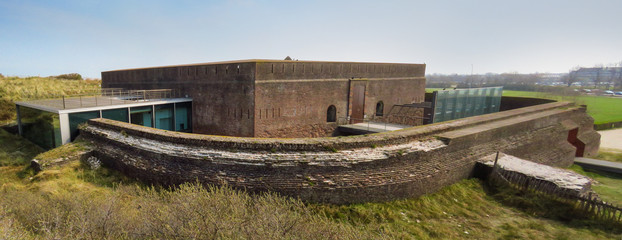 Panoramic view of Fort Napoleon, Ostend, Belgium, Europe