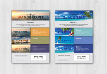Flyer Layout with Colorful Elements