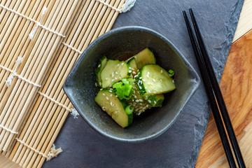 Korean Cucumber Banchan Dish
