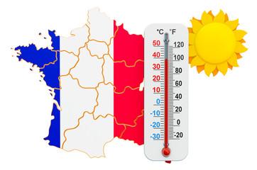 Heat in France concept. 3D rendering