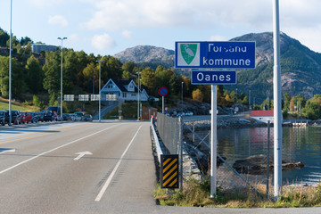 place name sign in Norway
