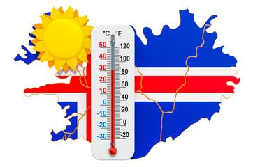 Heat in Iceland concept. 3D rendering