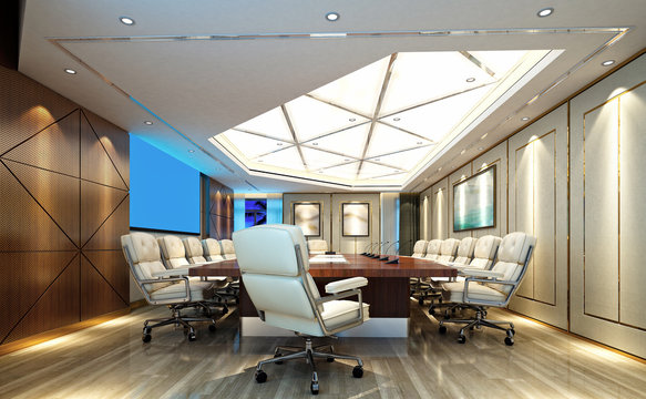 3d render of meeting room