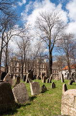 Old jewish graveyard in Prague