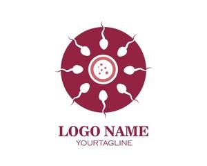 sperm icon logo vector illustration design