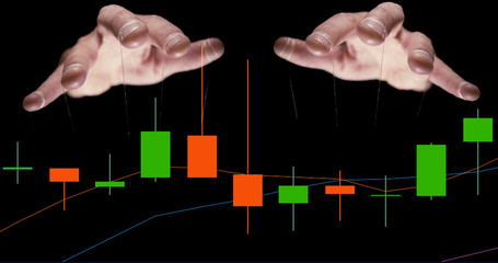 We are being manipulated. Puppet master hands controlling our stocks and shares