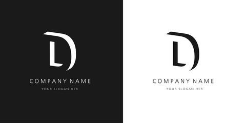 Fototapeta d logo, modern design letter character obraz