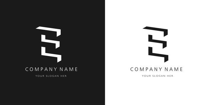 e logo, modern design letter character