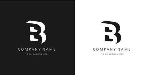 b logo, modern design letter character