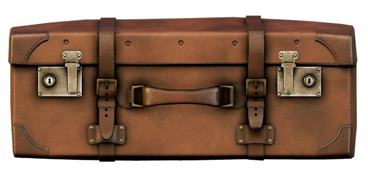 Old Vintage Suitcase 2D Game Art