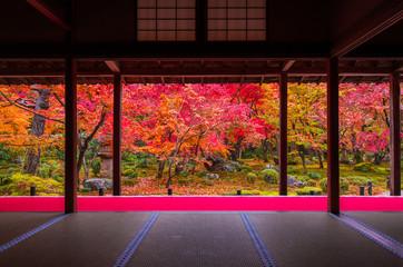 Poster Kyoto 京都 圓光寺の紅葉
