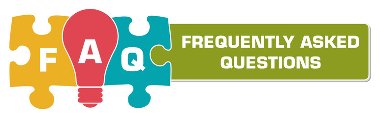 FAQ - Frequently Asked Questions Colorful Bulb Puzzle Horizontal