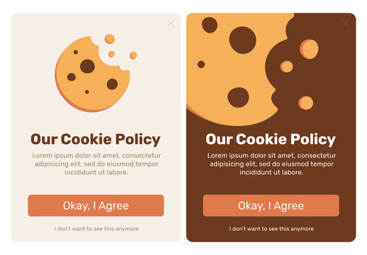 The cookie pop up