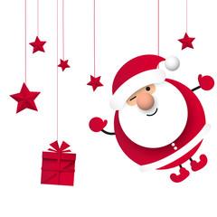 Obraz Święty Mikołaj. Boże narodzenie. Ilustracja wektorowa - fototapety do salonu