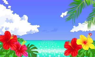 夏のトロピカルな背景素材 01