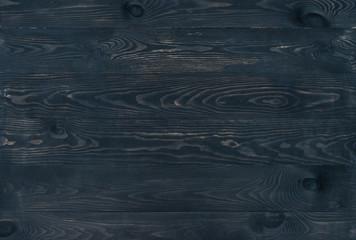 Dark brown brushed burnt wooden planks for background