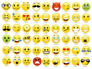 Smile icons set vector illustration