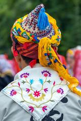 Detail of folk turkish traditional costume