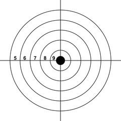 blank gun target paper shooting target blank target background target paper shooting on white background vector