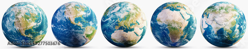 Wall mural Planet Earth geography map set